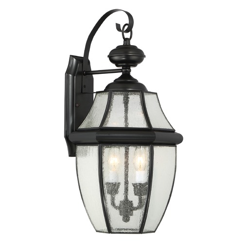Quoizel Lighting Quoizel Newbury Mystic Black Outdoor Wall Light NY8411K