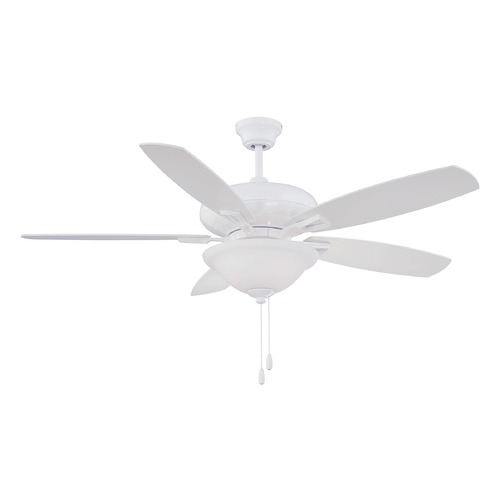 Savoy House Savoy House Lighting Mystique White Ceiling Fan with Light 52-831-5WH-WH