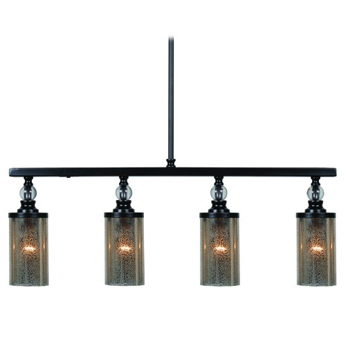 Kenroy Home Lighting Mercury Glass Island Light Oil Rubbed Bronze by Kenroy Home 93449ORB