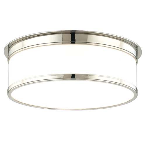Hudson Valley Lighting Flushmount Light with White Glass in Polished Nickel Finish 715-PN