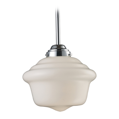 Elk Lighting 17-Inch Chrome Schoolhouse Pendant Light 69020-1