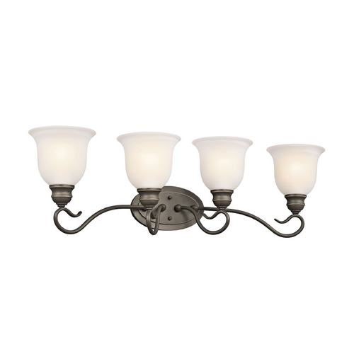 Kichler Lighting Kichler Bathroom Light with White Glass in Olde Bronze Finish 45904OZ