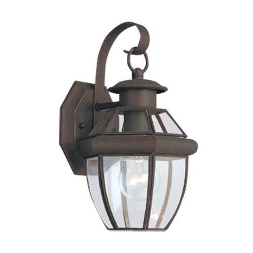 Sea Gull Lighting Outdoor Wall Light with Clear Glass in Antique Bronze Finish 8037-71