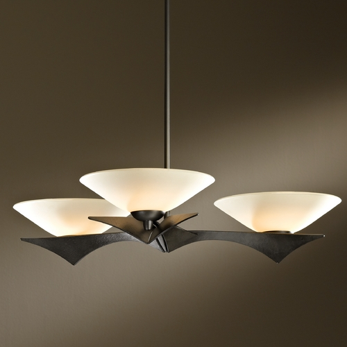 Hubbardton Forge Lighting Hubbardton Forge Lighting Moreau Dark Smoke Pendant Light with Conical Shade 136550-07-S396