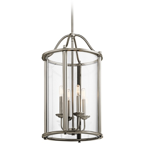 Kichler Lighting Kichler Lighting Emory Pendant Light with Cylindrical Shade 43709CLP