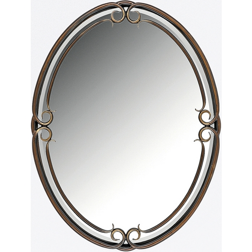 Quoizel Lighting Duchess Oval 30-Inch Quoizel Mirror DH44030PN