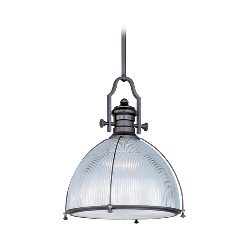 Maxim Lighting Maxim Lighting Hi-Bay Bronze Pendant Light with Bowl / Dome Shade 25004CLBZ