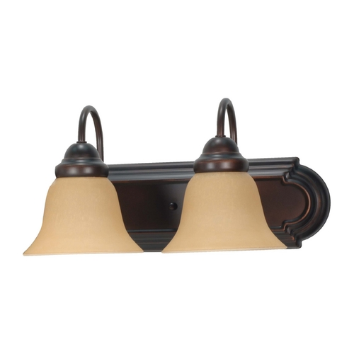 Nuvo Lighting Bathroom Light with Beige / Cream Glass in Mahogany Bronze Finish 60/1264