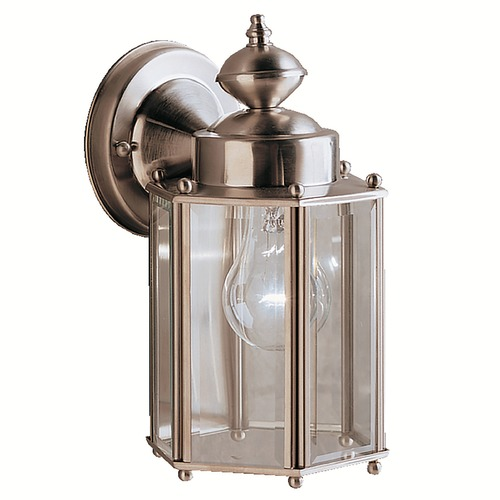 Kichler Lighting Kichler Outdoor Wall Light with Clear Glass in Stainless Steel Finish 9618SS