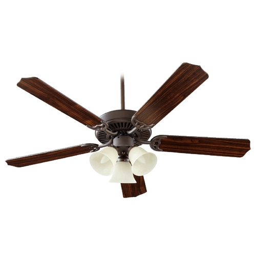 Quorum Lighting Quorum Lighting Capri Vi Oiled Bronze Ceiling Fan with Light 77525-1886