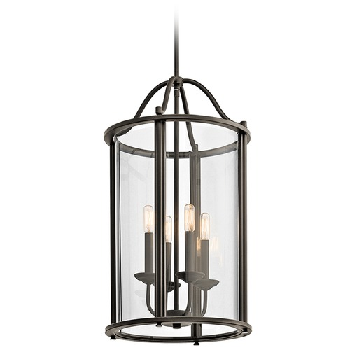 Kichler Lighting Kichler Lighting Emory Pendant Light with Cylindrical Shade 43709OZ