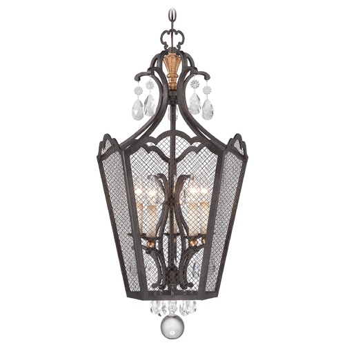 Metropolitan Lighting Metropolitan Cortona French Bronze W/ Gold Highligh Pendant Light N7109-258B