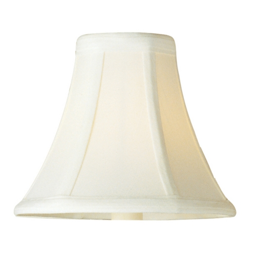Maxim Lighting Frosted Ivory Bell Lamp Shade with Uno Assembly SHD123WH