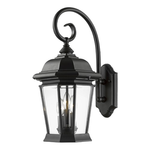 Z-Lite Z-Lite Melbourne Black Outdoor Wall Light 541B-BK