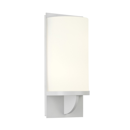 Sonneman Lighting Modern Sconce Wall Light with White Glass in Satin White Finish 1722.03F