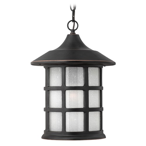 Hinkley Lighting Outdoor Hanging Light with White Glass in Olde Penny Finish 1802OP