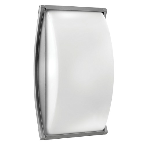 Hinkley Lighting Modern Outdoor Wall Light with White Glass in Titanium Finish 1655TT