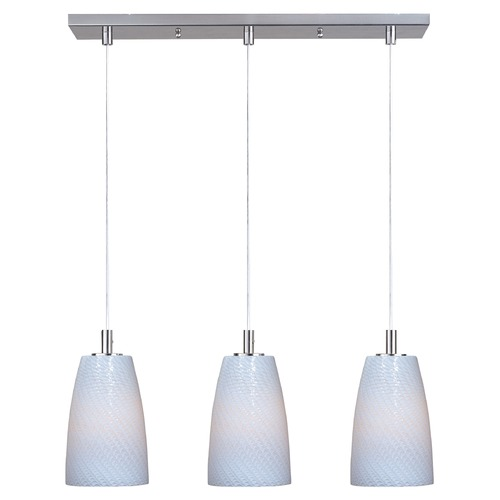 ET2 Lighting Carte LED Satin Nickel LED Multi-Light Pendant E94203-13SN