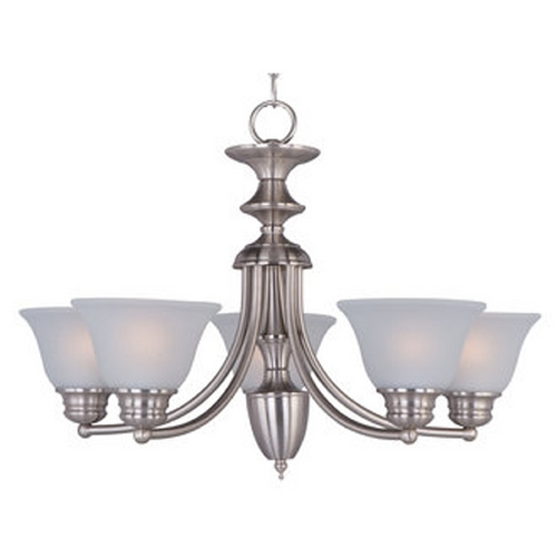 Maxim Lighting Maxim Lighting Malaga Satin Nickel Chandelier 2699FTSN