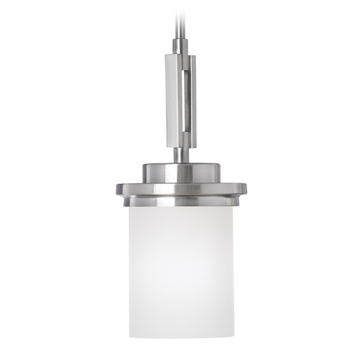 Sea Gull Lighting Sea Gull Lighting Winnetka Brushed Nickel Mini-Pendant Light with Cylindrical Shade 61660-962