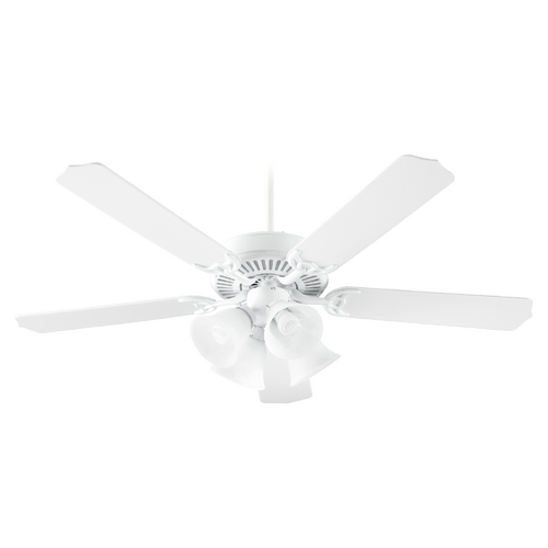Quorum Lighting Quorum Lighting Capri Vii White Ceiling Fan with Light 77525-8706