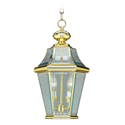 Livex Lighting Livex Lighting Georgetown Polished Brass Outdoor Hanging Light 2265-02
