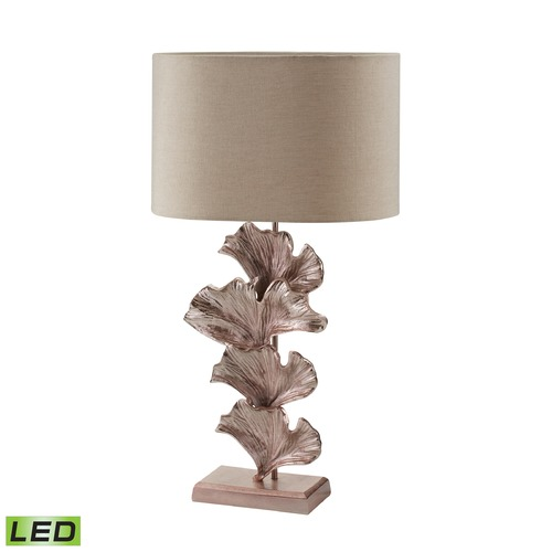 Dimond Lighting Dimond Lighting Rose Gold LED Table Lamp with Drum Shade 468-023-LED