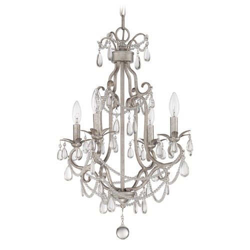 Jeremiah Lighting Jeremiah Lighting Antique Silver Mini-Chandelier 1054C-AS