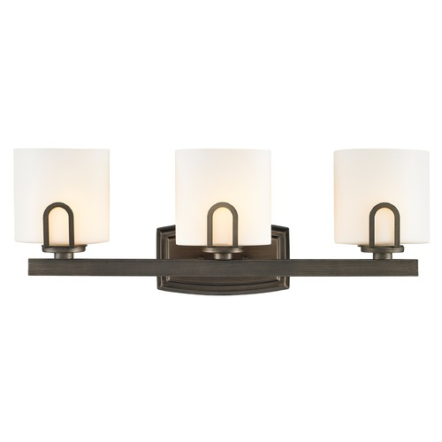 Golden Lighting Golden Lighting Presilla Gunmetal Bronze Bathroom Light 9363-BA3 GMT-OP