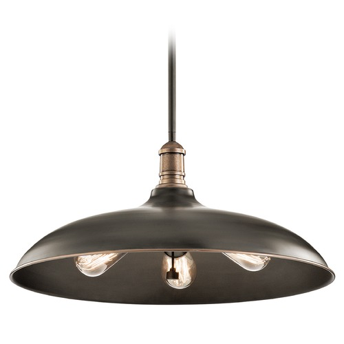 Kichler Lighting Kichler Lighting Cobson Olde Bronze Pendant Light with Bowl / Dome Shade 42649OZ