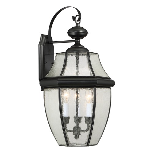Quoizel Lighting Quoizel Newbury Mystic Black Outdoor Wall Light NY8412K