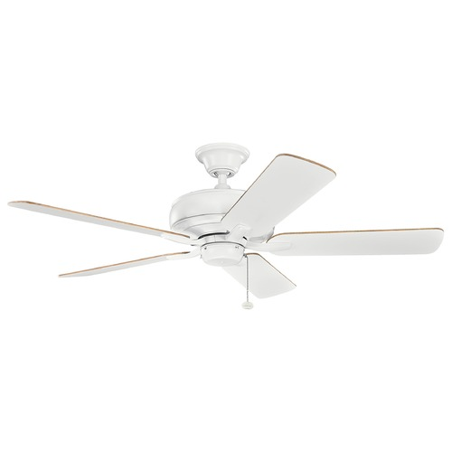Kichler Lighting Kichler Lighting Terra Matte White Ceiling Fan Without Light 330247MWH