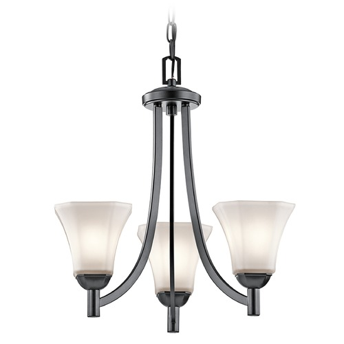 Kichler Lighting Kichler Lighting Serena Mini-Pendant Light with Bell Shade 43630BK