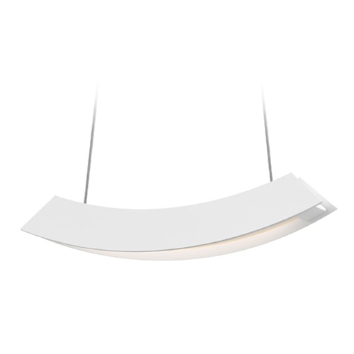 Sonneman Lighting Sonneman Kabu Textured White LED Pendant Light 1740.98