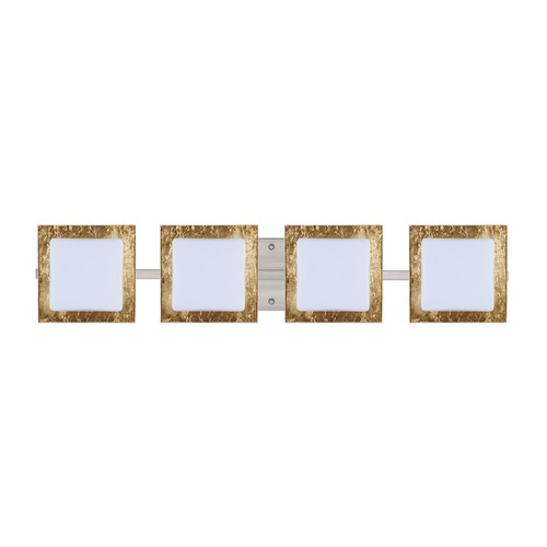 Besa Lighting Besa Lighting Alex Satin Nickel LED Bathroom Light 4WS-7735GF-LED-SN