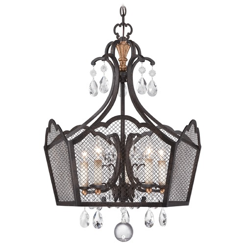 Metropolitan Lighting Metropolitan Cortona French Bronze W/ Gold Highligh Chandelier N7111-258B