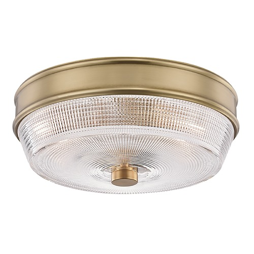 Mitzi by Hudson Valley Mitzi By Hudson Valley Mitzi Lacey Aged Brass Flushmount Light H309501-AGB