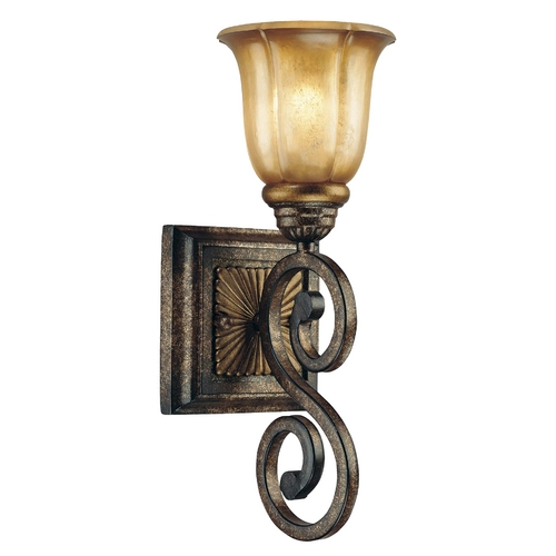 Minka Lavery Sconce with Beige / Cream Glass in Brompton Bronze Finish 6331-561