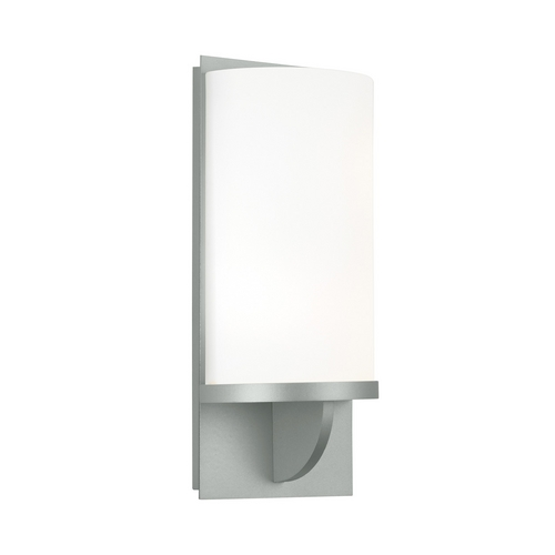 Sonneman Lighting Modern Sconce Wall Light with White Glass in Satin Silver Finish 1722.04