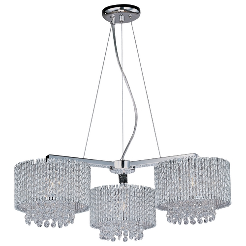 ET2 Lighting Modern Pendant Light with Clear Glass in Polished Chrome Finish E23139-10PC