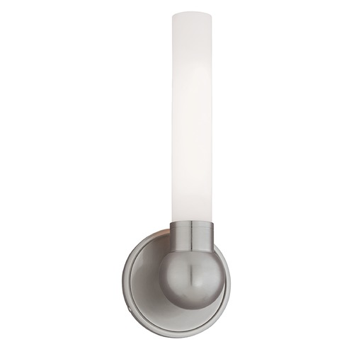 Hudson Valley Lighting Bathroom Light with White Glass in Satin Nickel Finish 821-SN