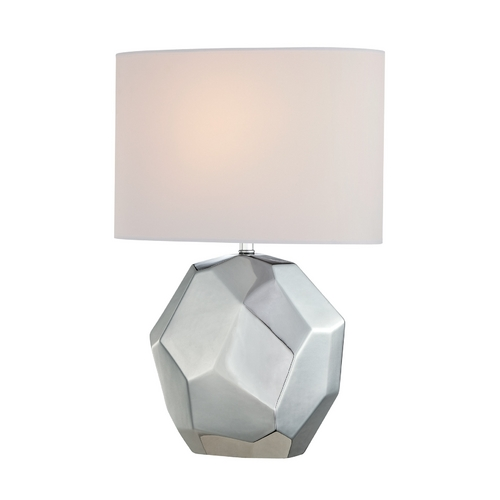 Lite Source Lighting Lite Source Lighting Piera Chrome Table Lamp with Oval Shade LS-21983C