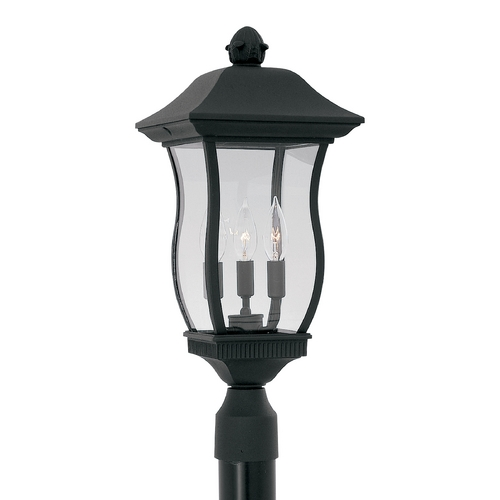 Designers Fountain Lighting Post Light with Clear Glass in Black Finish 2726-BK