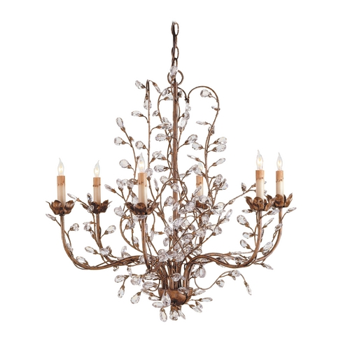 Currey and Company Lighting Crystal Chandelier in Cupertino Finish 9882