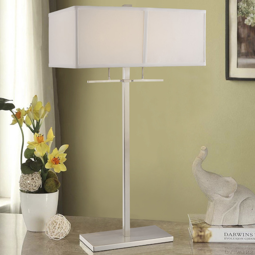 Design Classics Lighting Two-Light Table Lamp with Shade 6092-09 / SH7370