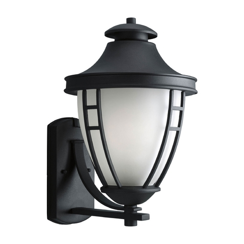 Progress Lighting Progress Outdoor Wall Light with White Glass in Textured Black Finish P5780-31