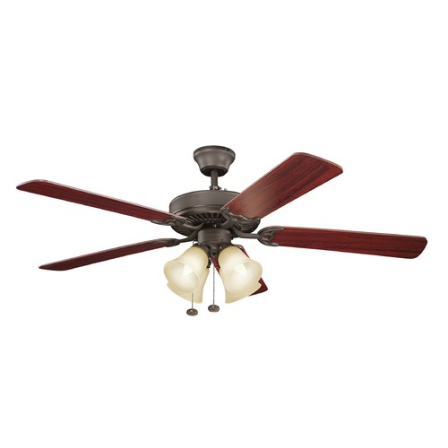 Kichler Lighting Kichler Lighting Basics Ceiling Fan with Light 402SNBU