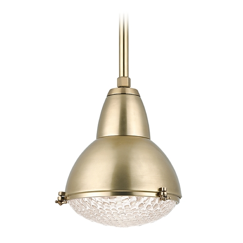 Hudson Valley Lighting Hudson Valley Lighting Belmont Aged Brass Pendant Light 8113-AGB