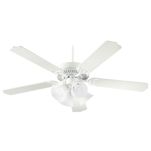 Quorum Lighting Quorum Lighting Capri Vii Studio White Ceiling Fan with Light 77525-8708