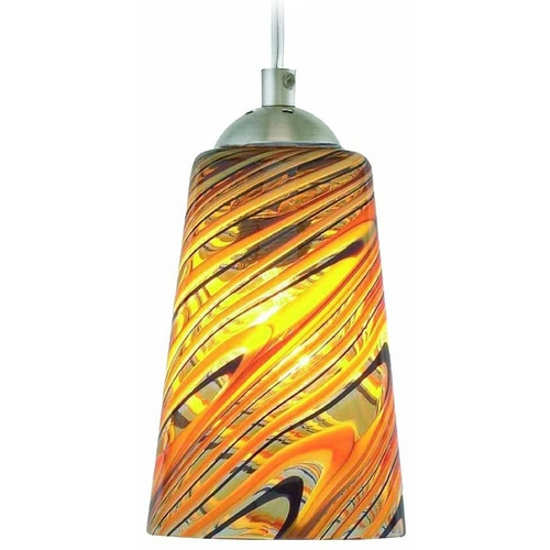 Oggetti Lighting Oggetti Lighting Carnivale Satin Nickel Mini-Pendant Light with Cylindrical Shade 22-205A